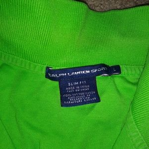 Lime green polo shirt